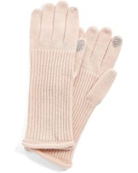 Halogen 'touch Tech' Cashmere Gloves - Pink
