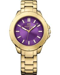 Tommy Hilfiger Womens Gold Ion-plated Stainless Steel Bracelet Watch 38mm - Lyst