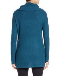 Lord + Taylor Plus Drop-shoulder Cowl-neck Sweater - Blue