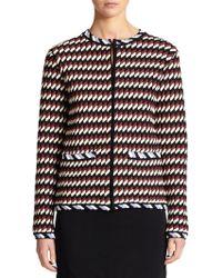 Christopher Kane Geometric Knit Jacket multicolor - Lyst