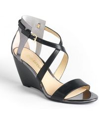 Enzo Angiolini Mckinney Leather Wedge Sandals - Lyst