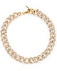 Michael Kors Brilliance Statement PavÉ Chain Toggle Necklace/Goldtone - Lyst