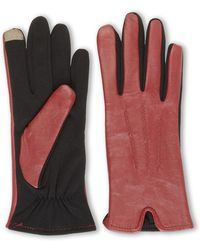 Fownes Nappa Combo Touchpoint Gloves - Red
