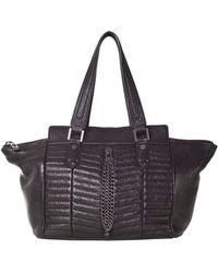 Sanctuary - Heavy Metal Leather Tote Bag - Lyst