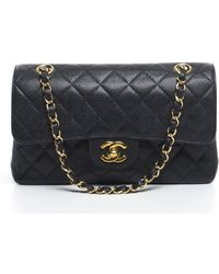 Chanel Pre-owned Black Caviar Small Double Flap Bag - Lyst