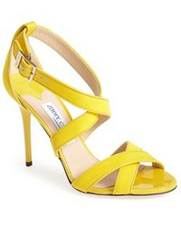 Jimmy Choo Louise Cross-Over Sandals - Lyst