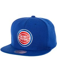 Mitchell & Ness The Detroit Pistons Wool Solid Snapback - Lyst