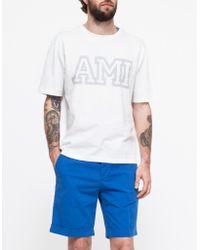 AMI Printed T-Shirt - Lyst