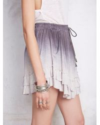 Free People Womens Sunset Tide Mini Skirt gray - Lyst