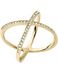 Michael Kors - Pavé X Ring - Lyst