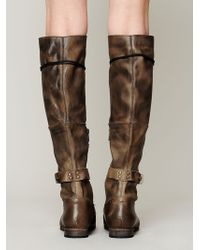Free People Womens Landmark Lace Up Boot - Brown