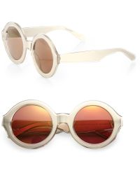 Karen Walker X-Ray Vision 49Mm Round Sunglasses - Lyst