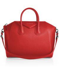 Givenchy   Antigona Medium Leather Satchel   Lyst