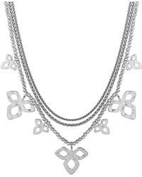 Lucky Brand Diamond-shaped Cluster Necklace - Metallic