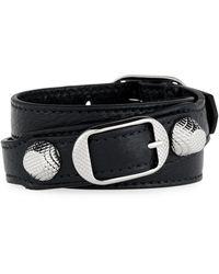 Balenciaga   Giant 12 Leather Stud & Buckle Belt Bracelet   Lyst
