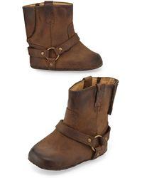 Frye Leather Harness Bootie - Lyst