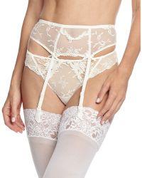 Lise Charmel Plaisir Guipure Lace Garter Belt - White