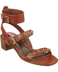 Isaac Mizrahi New York Strap 2 Faux Leather Sandals - Brown