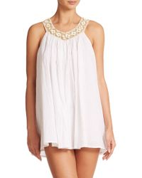 L*Space White Falls Chemise - Lyst