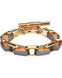 Diane von Furstenberg - Leather And Gold-plated Bracelet - Lyst