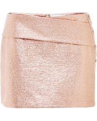 Misha Nonoo - Rose Gold Bessie Jersey Mini Skirt - Lyst