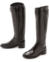 Tory Burch Grace Riding Boots Black - Lyst