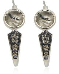 Pamela Love Silver Quartz Aura Earrings - Lyst