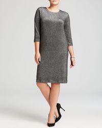 Karen Kane Plus Metallic Knit Dress - Lyst