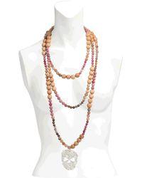 Rita & Zia Mandala Xxl Skull Necklace - Orange