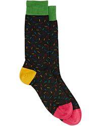 Richard James Confetti-pattern Mid-calf Socks - Black