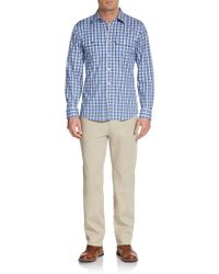 Michael Kors Duncan Checked Cotton Shirt - Lyst