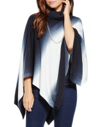 Two By Vince Camuto - Dip Dye Turtleneck Poncho - Lyst