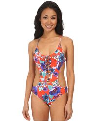 Seafolly Field Trip Cutout Maillot floral - Lyst