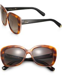 Dior Oversized Square Frosted Sunglasses - Lyst