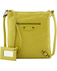 Balenciaga Classic Flat Crossbody Bag Jaune Poussin - Lyst