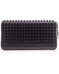 Christian Louboutin Panettone Spike Leather Wallet - Lyst