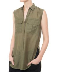 Helmut Lang Blend Sleeveless Top green - Lyst