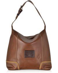 La Martina - Mirada Cognac Leather Hobo Bag - Lyst
