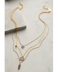Anthropologie Aussois Layered Necklace - Lyst