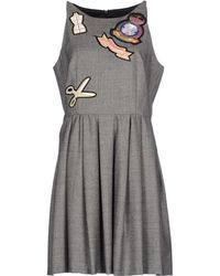 Moschino Cheap & Chic Short Dress gray - Lyst