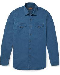 Tod's Denim Western Shirt - Blue