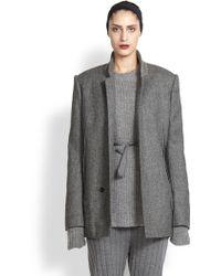 Haider Ackermann Back-Peplum Wool Jacket - Lyst