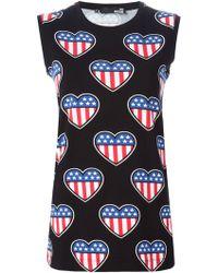 Love Moschino American Flag Sleeveless T-shirt - Lyst