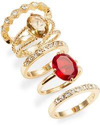 ABS By Allen Schwartz Stackable Ring Set - Red