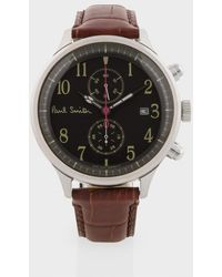 Paul Smith Graphite 'City 2' Chronograph Watch black - Lyst