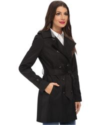 DKNY Double Breasted Trench With Inverted Pleat - Lyst