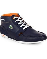 Lacoste Colorblock Laceup Hightop Sneakers - Lyst