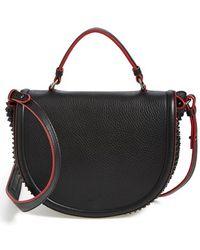 Christian Louboutin Women'S 'Panettone' Studded Calfskin Messenger Bag - Black - Lyst