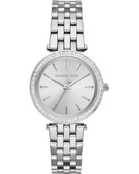 Michael Kors Mini Darci Silver Stainless Steel Glitz Watch - Lyst