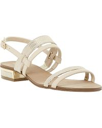Dune Jette Leather Slingback Sandals - For Women beige - Lyst